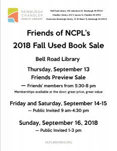 Friends of the Library Book Sale Preview 5:30 pm to 8 pm