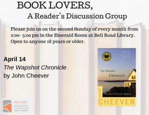 Book Lovers, A Reader's Discussion Group: The Wapshot Chronicle @ Emerald Room, Bell Road Library | Newburgh | Indiana | United States