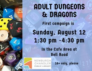 Adult Dungeons & Dragons @ Bell Road Library | Newburgh | Indiana | United States