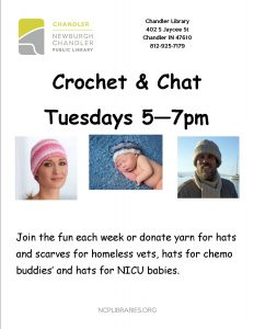 Crochet & Chat @ Chandler Library | Chandler | Indiana | United States