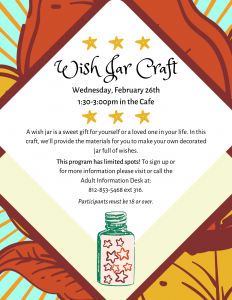 Wish Jar Craft @ Bell Road Library | Newburgh | Indiana | United States