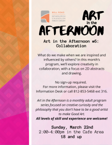Art in the Afternoon- Collaboration @ Bell Road Library | Newburgh | Indiana | United States