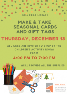 All Ages Make & Take Seasonal Cards @ Bell Road Library | Newburgh | Indiana | United States