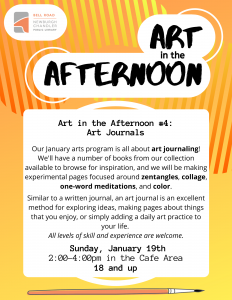 Art in the Afternoon- Art Journaling @ Bell Road Library | Newburgh | Indiana | United States
