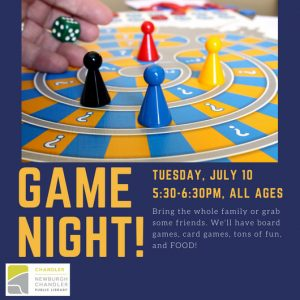 Game Night! all ages @ Chandler Children's Department | Chandler | Indiana | United States