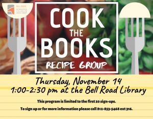 Cook the Books Recipe Group @ Bell Road Library | Newburgh | Indiana | United States