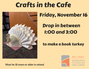 Crafts in the Cafe-Book Turkey @ Bell Road Library | Newburgh | Indiana | United States