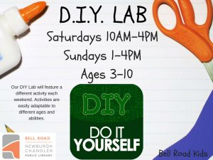 D.I.Y. Lab - ages 3-10 (drop-in program) @ Bell Road Children's Department | Newburgh | Indiana | United States