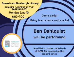 Summer Concert At Downtown Newburgh- Ben Dahlquist @ Downtown Newburgh Library | Newburgh | Indiana | United States