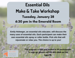 Essential Oils Make & Take Workshop @ Bell Road Library | Newburgh | Indiana | United States