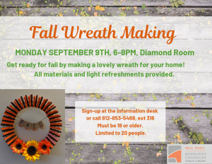 Fall Wreath Craft @ Bell Road Library | Newburgh | Indiana | United States