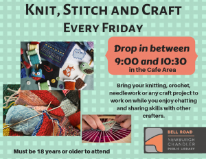 Knit, Stitch and Craft @ Bell Road Library | Newburgh | Indiana | United States