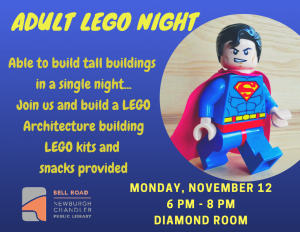 Adult Lego Architecture Night @ Bell Road Library | Newburgh | Indiana | United States