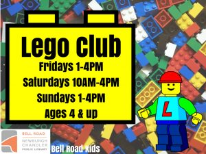 Lego Club, ages 4 and up (drop in program) @ Bell Road Children's Department | Newburgh | Indiana | United States