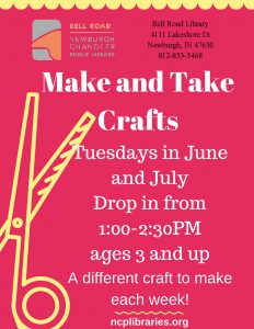 Make & Take Crafts, ages 3 and up @ Bell Road Children's Department | Newburgh | Indiana | United States