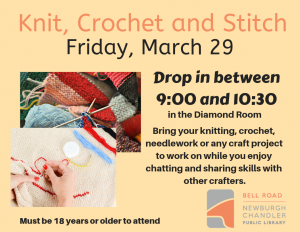 Knit, Crochet and Stitch @ Bell Road Library | Newburgh | Indiana | United States