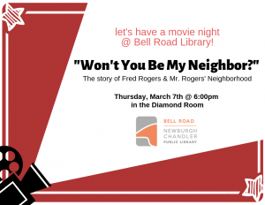 Movie Night @ Bell Road Library | Newburgh | Indiana | United States