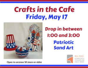 Crafts in the Cafe- Sand Art @ Bell Road Library | Newburgh | Indiana | United States