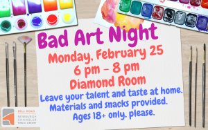 Bad Art Night @ Bell Road Library | Newburgh | Indiana | United States