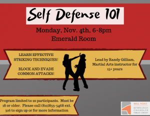 Self Defense 101 @ Bell Road Library | Newburgh | Indiana | United States