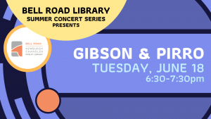 Summer Concert on the Patio- Gibson & Pirro @ Bell Road Library | Newburgh | Indiana | United States