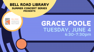 Summer Concert on the Patio- Grace Poole @ Bell Road Library | Newburgh | Indiana | United States