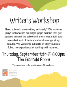 Writer's Workshop @ Bell Road Library | Newburgh | Indiana | United States