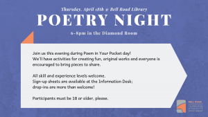 Poetry Night @ Bell Road Library | Newburgh | Indiana | United States