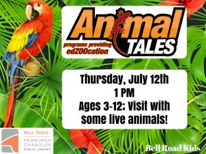 Animal Tales, ages 3-12 @ Bell Road Children's Department | Newburgh | Indiana | United States