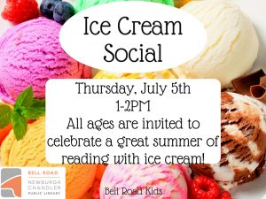 Ice Cream Social, all ages @ Bell Road Children's Department | Newburgh | Indiana | United States