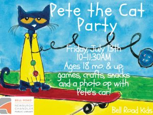 Pete the Cat Party, ages 18 mo. and up @ Bell Road Children's Department | Newburgh | Indiana | United States