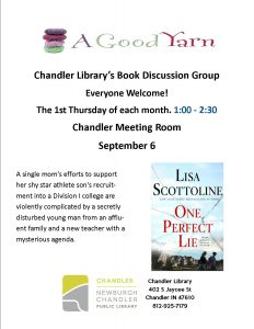 Chandler Adult Book Discussion @ Chandler Library | Chandler | Indiana | United States
