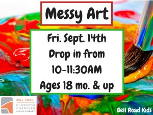 Messy Art-ages 18 mo. and up (drop in event) @ Bell Road Children's Department | Mansfield | Texas | United States