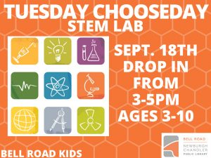 STEM Lab, ages 3-10 (drop in event) @ Bell Road Children's Department | Newburgh | Indiana | United States