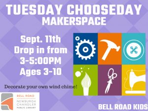 Makerspace, ages 3-10 (drop in program) @ Bell Road Children's Department | Newburgh | Indiana | United States
