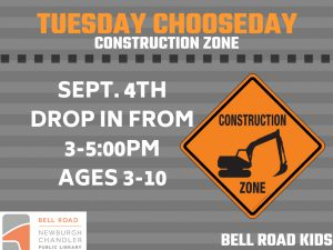 Construction Zone, ages 3-10, drop in event @ Bell Road Children's Department | Newburgh | Indiana | United States