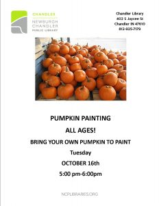 Pumpkin Painting @ Chandler Library | Chandler | Indiana | United States