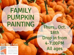 Family Pumpkin Painting, all ages (drop in event) @ Bell Road Children's Department   Newburgh   Indiana   United States