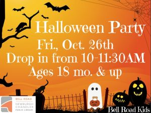 Halloween Party, ages 18 mo. and up (drop in event) @ Bell Road Children's Department   Newburgh   Indiana   United States