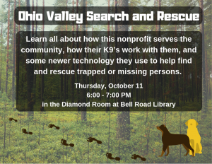 Ohio Valley Search and Rescue @ Diamond Room, Bell Road Library | Newburgh | Indiana | United States