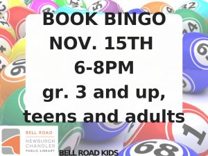 Book Bingo, gr. 3 and up, teens and adults @ Bell Road Children's Department | Newburgh | Indiana | United States