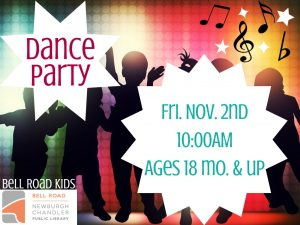 Dance Party, ages 18 months and up @ Bell Road Children's Department | Newburgh | Indiana | United States