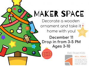 Tuesday Chooseday-Maker Space, drop in event @ Bell Road Children's Department | Newburgh | Indiana | United States