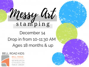 Messy Art - Stamping, ages 18 mo. and up (drop in event) @ Bell Road Children's Department | Newburgh | Indiana | United States