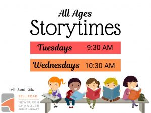 Storytime - all ages @ Bell Road Children's Department | Newburgh | Indiana | United States