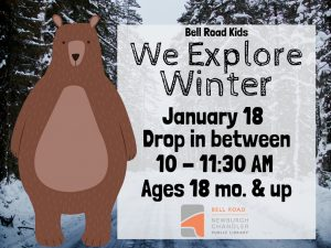We Explore Winter, ages 18 mo. and up (drop in event) @ Bell Road Children's Department | Newburgh | Indiana | United States
