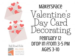 Valentine Cards Maker Space, ages 3-10, drop in event @ Bell Road Children's Department | Newburgh | Indiana | United States