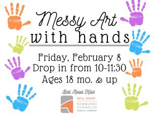 Messy Art With Our Hands-ages 18. mo and up (drop in event) @ Bell Road Children's Department | Newburgh | Indiana | United States