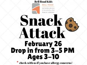 Snack Attack, ages 3-10, drop in event @ Bell Road Children's Department | Newburgh | Indiana | United States