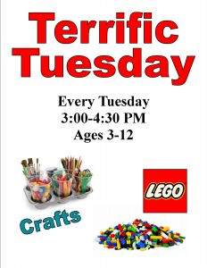 Terrific Tuesday, ages 3-12 (drop-in event) @ Chandler Library | Chandler | Indiana | United States